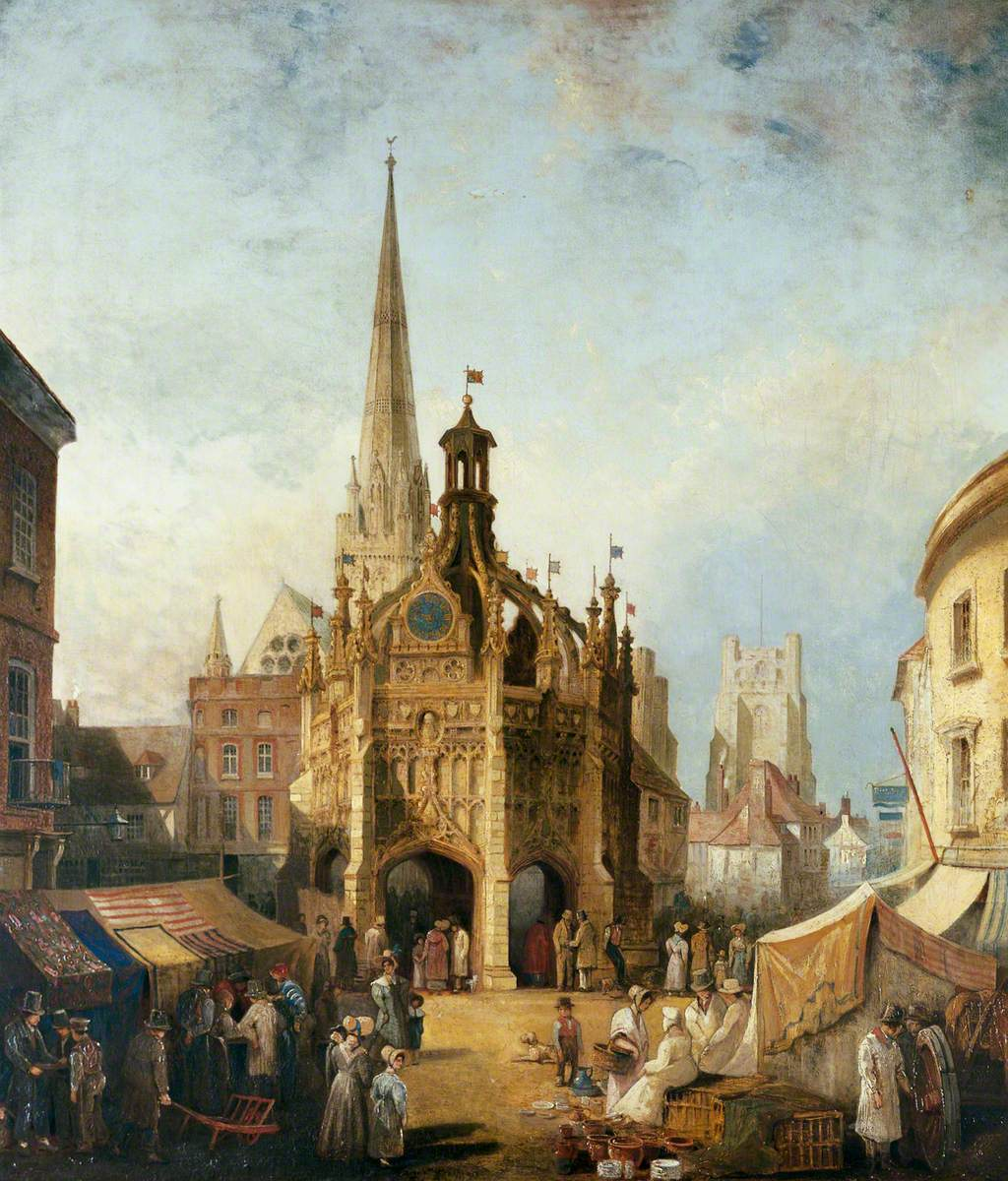 A View of Chichester Cross from East Street, West Sussex