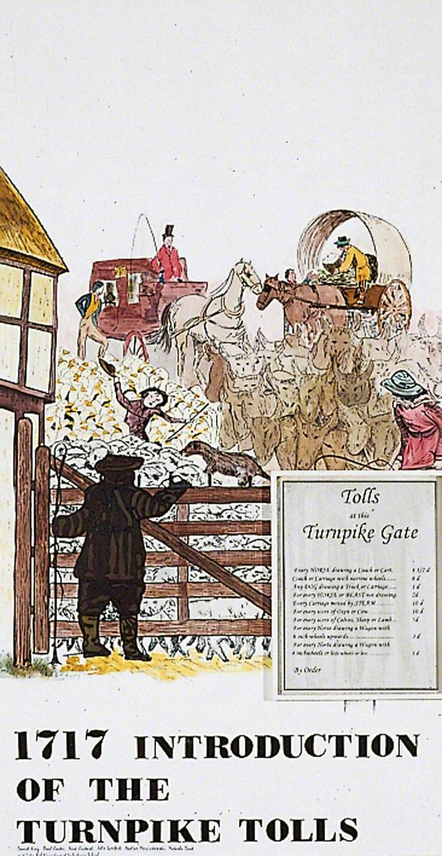 1717 Introduction of the Turnpike Tolls