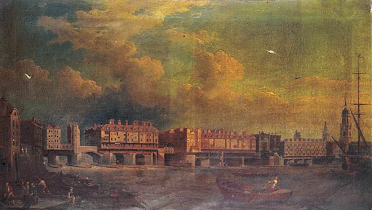 London Bridge before Alterations in 1757