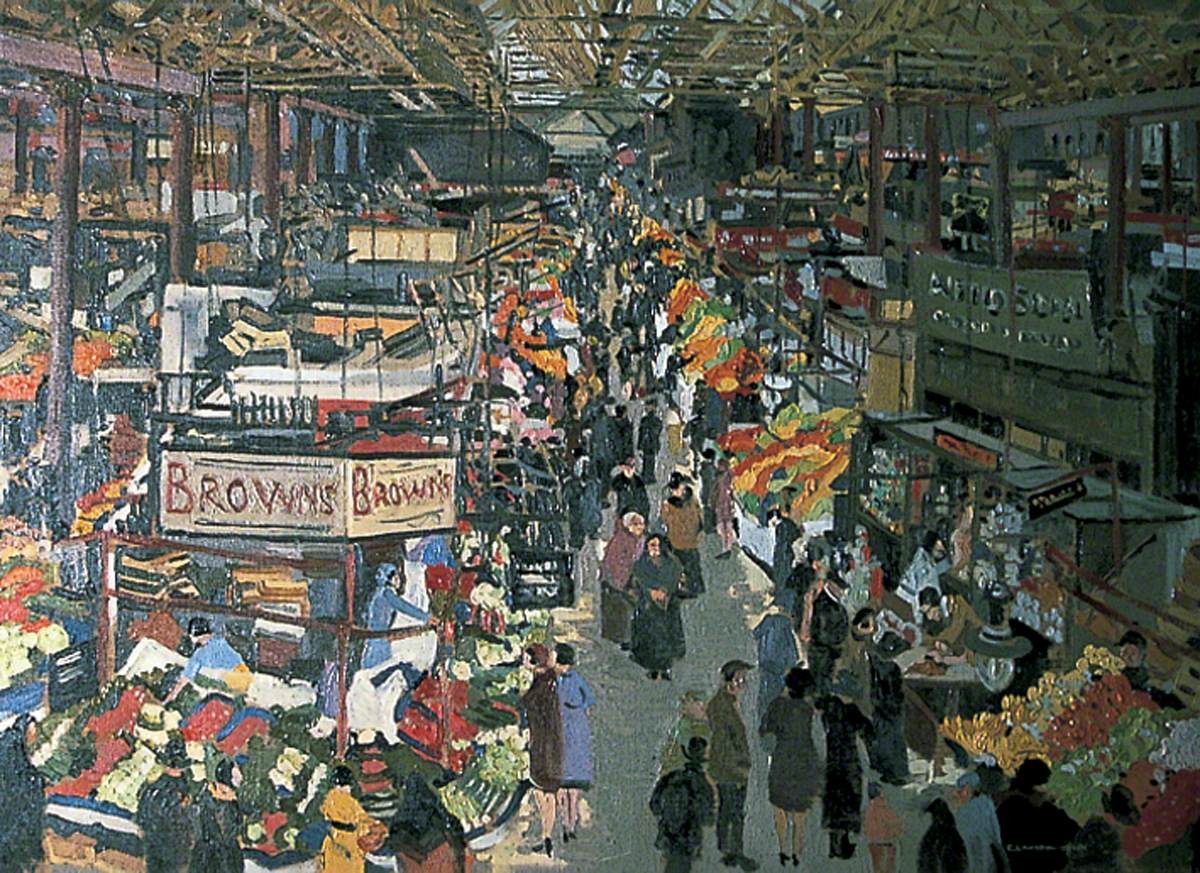 Interior View of Kirkgate Market, 1930/1931