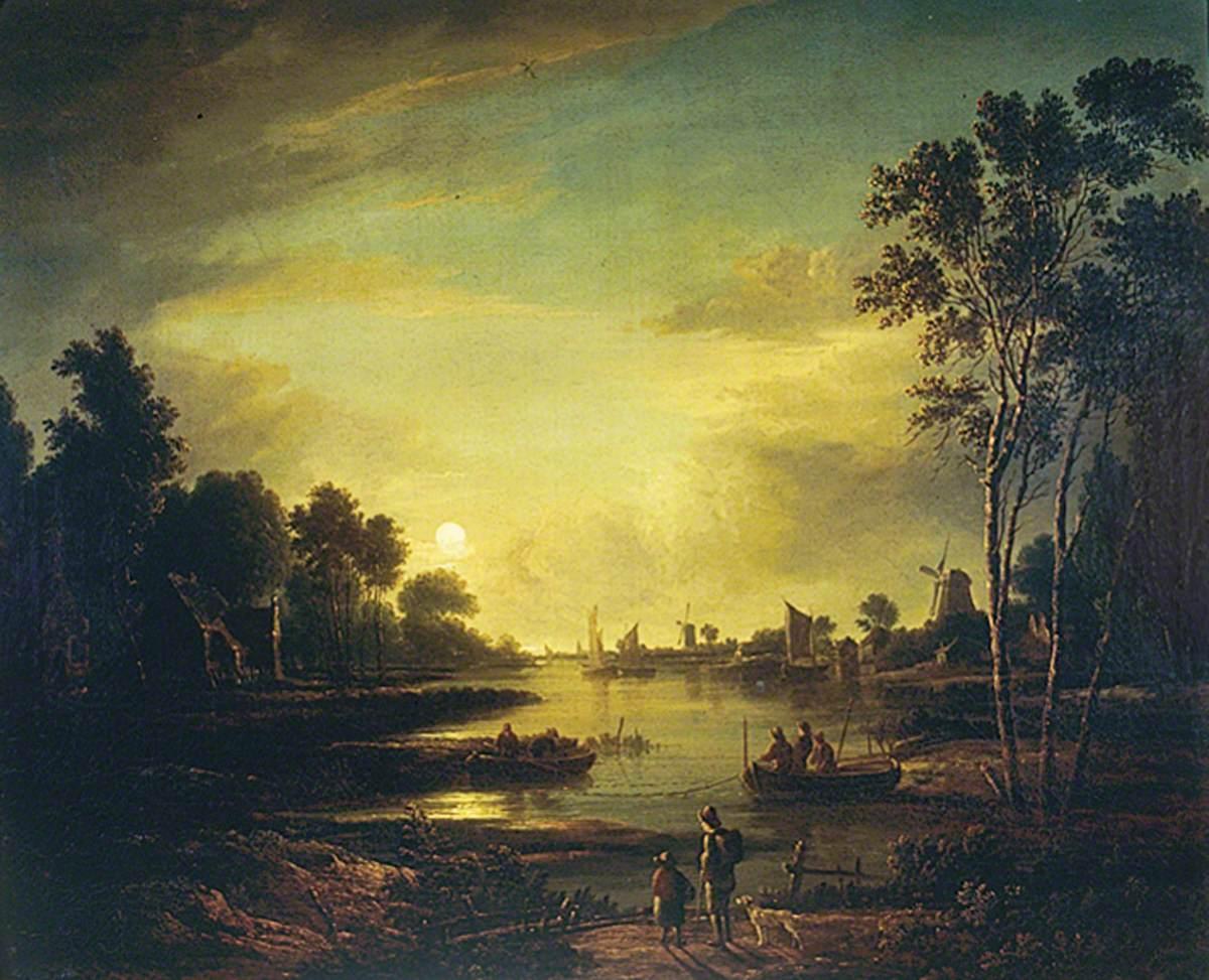 Moonlit River Scene