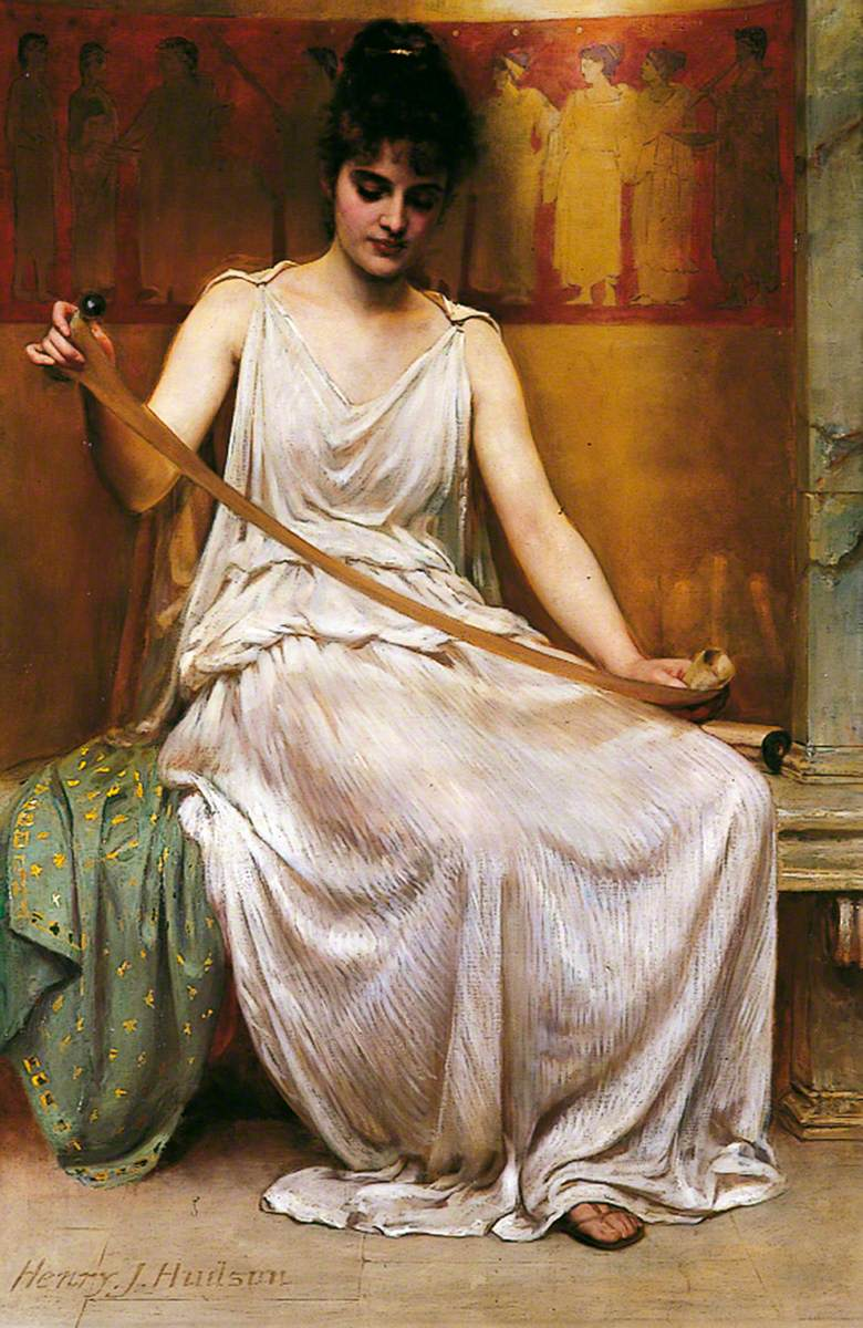 Neaera Reading a Letter from Catullus