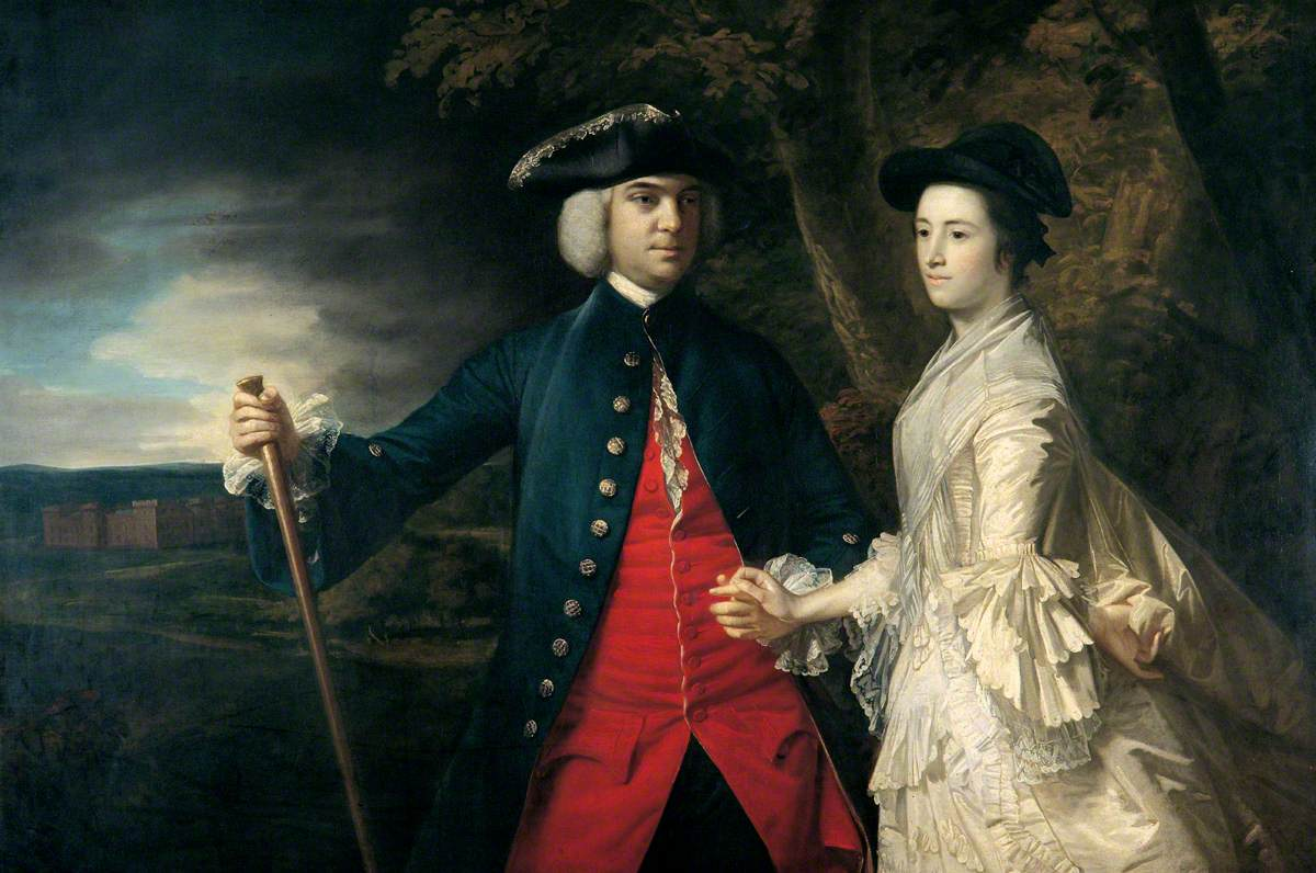 John, 2nd Earl of Egmont and His Second Wife Catherine