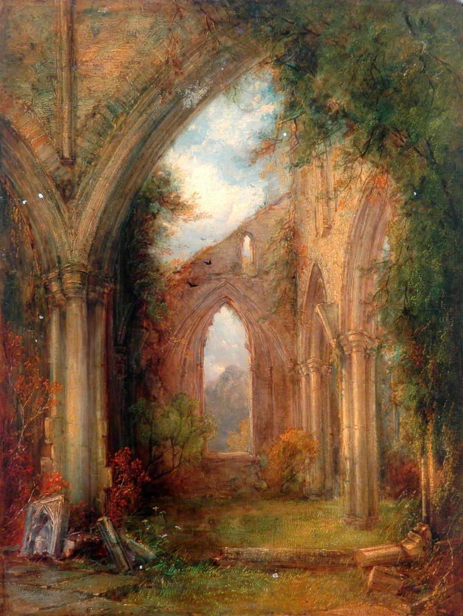 Part of the Ruins of Tintern Abbey