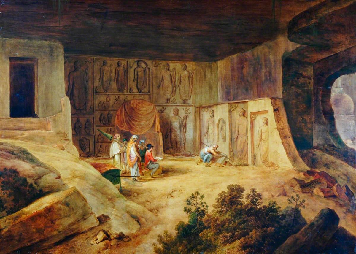 Inside of the Kanaree Caves at Salsette