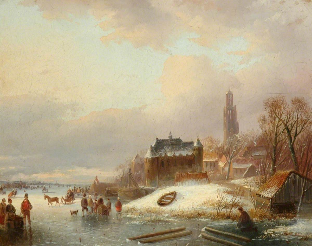Snow Scene in Holland