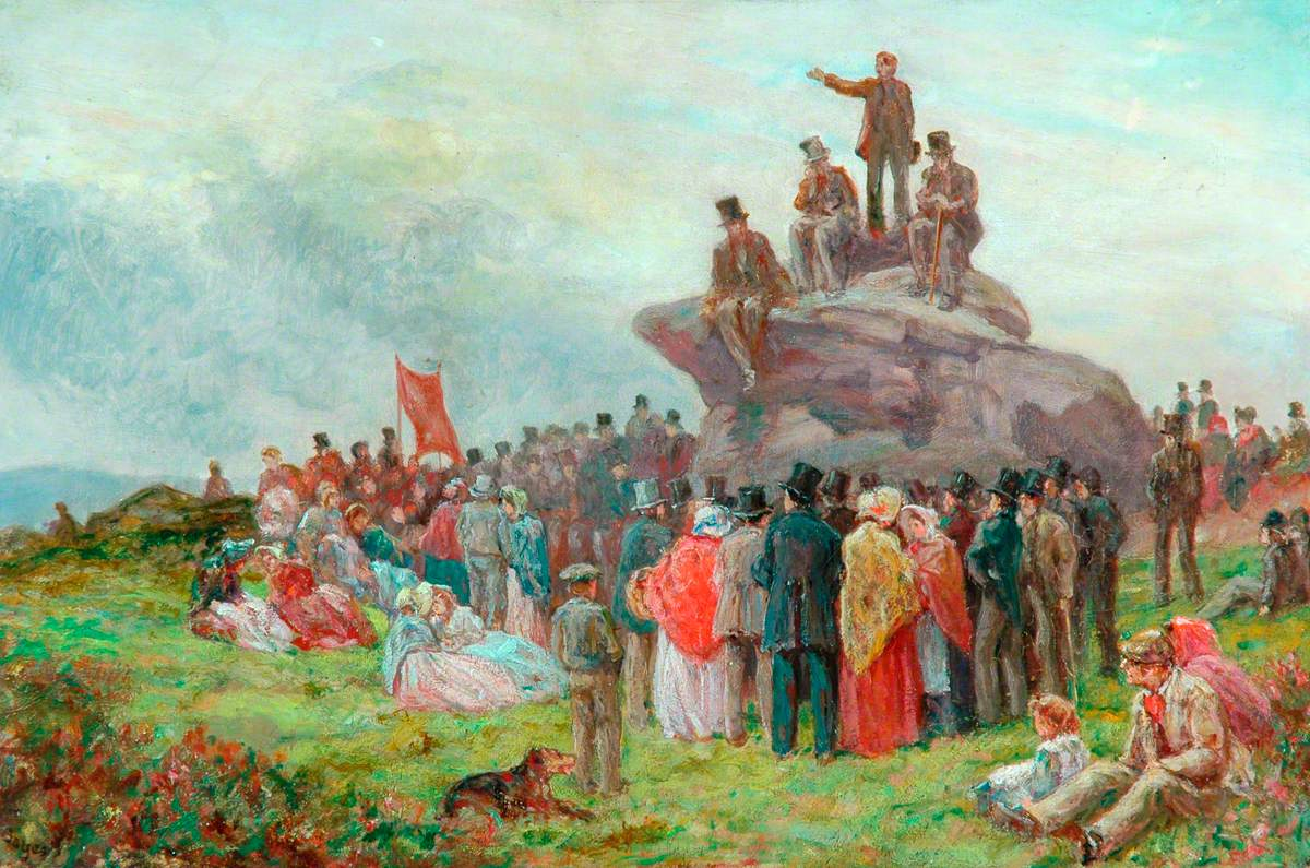 A Chartist Meeting at Basin Stones, Todmorden, 1842