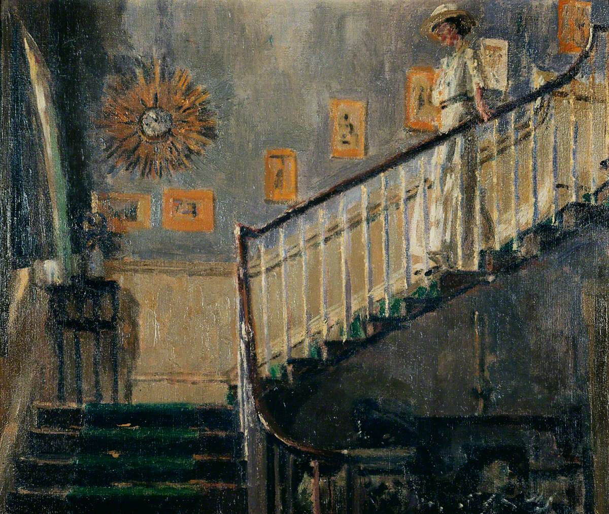 Ethel Sands Descending the Staircase at Newington