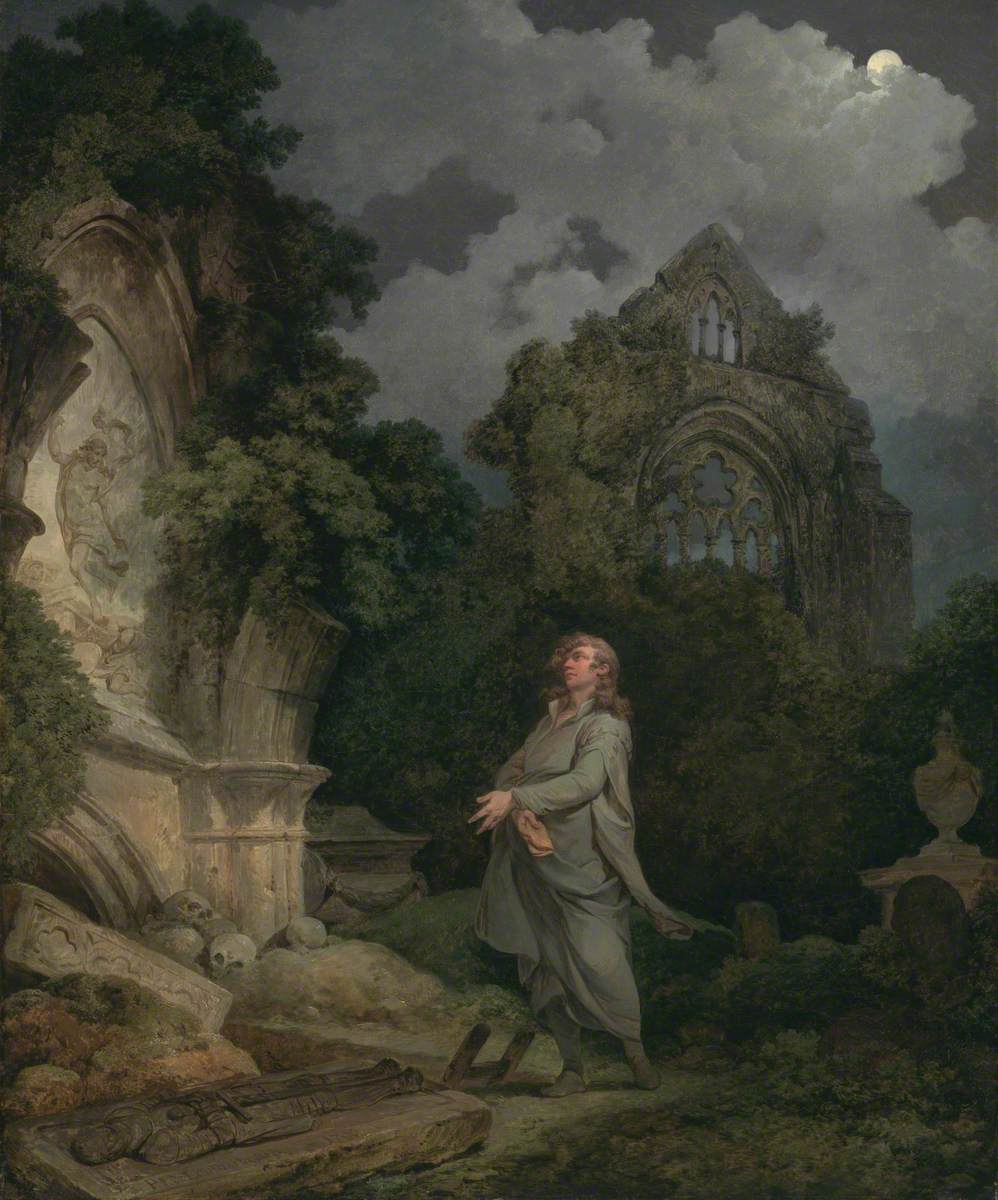 A Philosopher in a Moonlit Churchyard