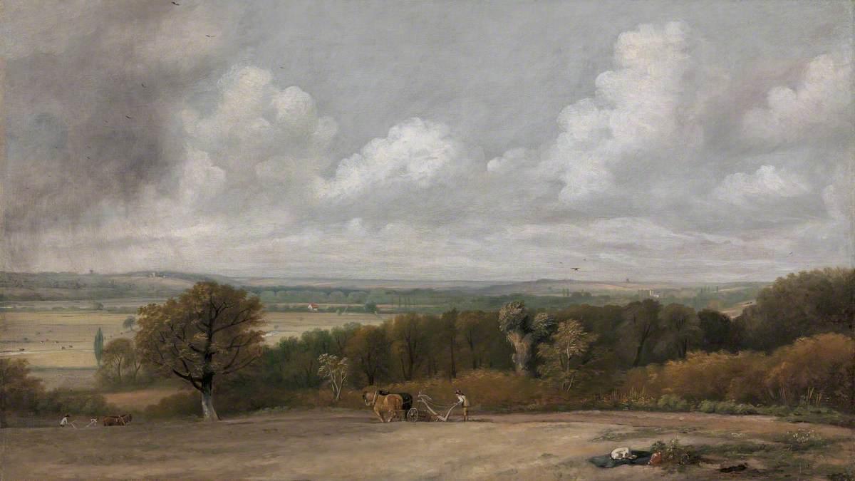 Ploughing Scene in Suffolk