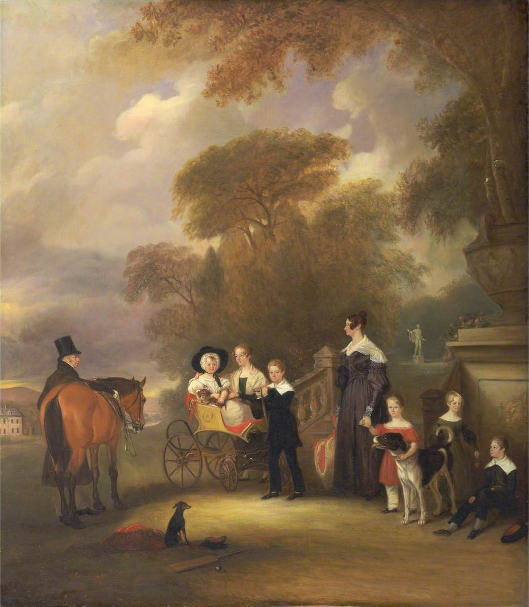 The Reverend and Mrs Henry Palmer with Their Six Younger Children at Withcote Hall, near Oakham, Leicestershire