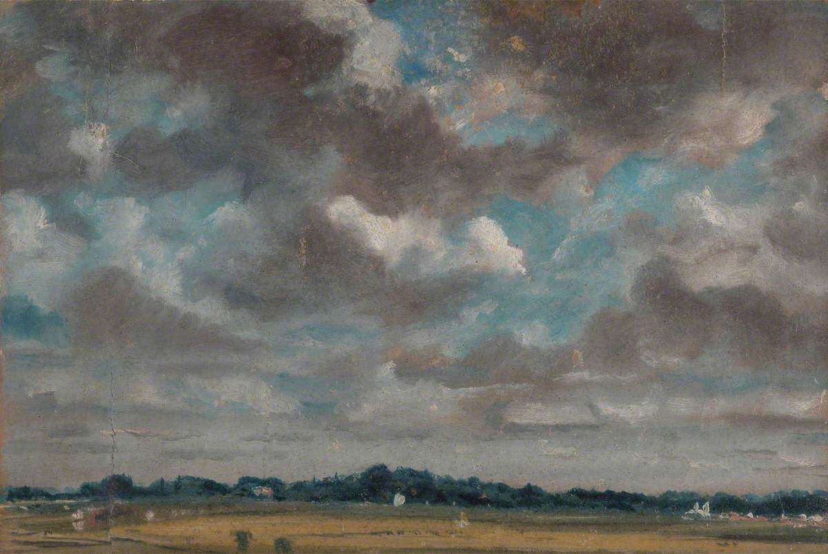 Extensive Landscape with Grey Clouds