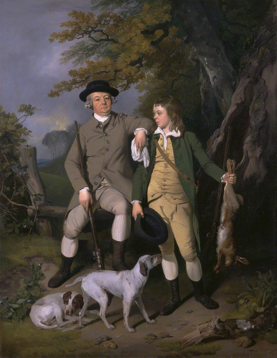 Portrait of a Sportsman with His Son