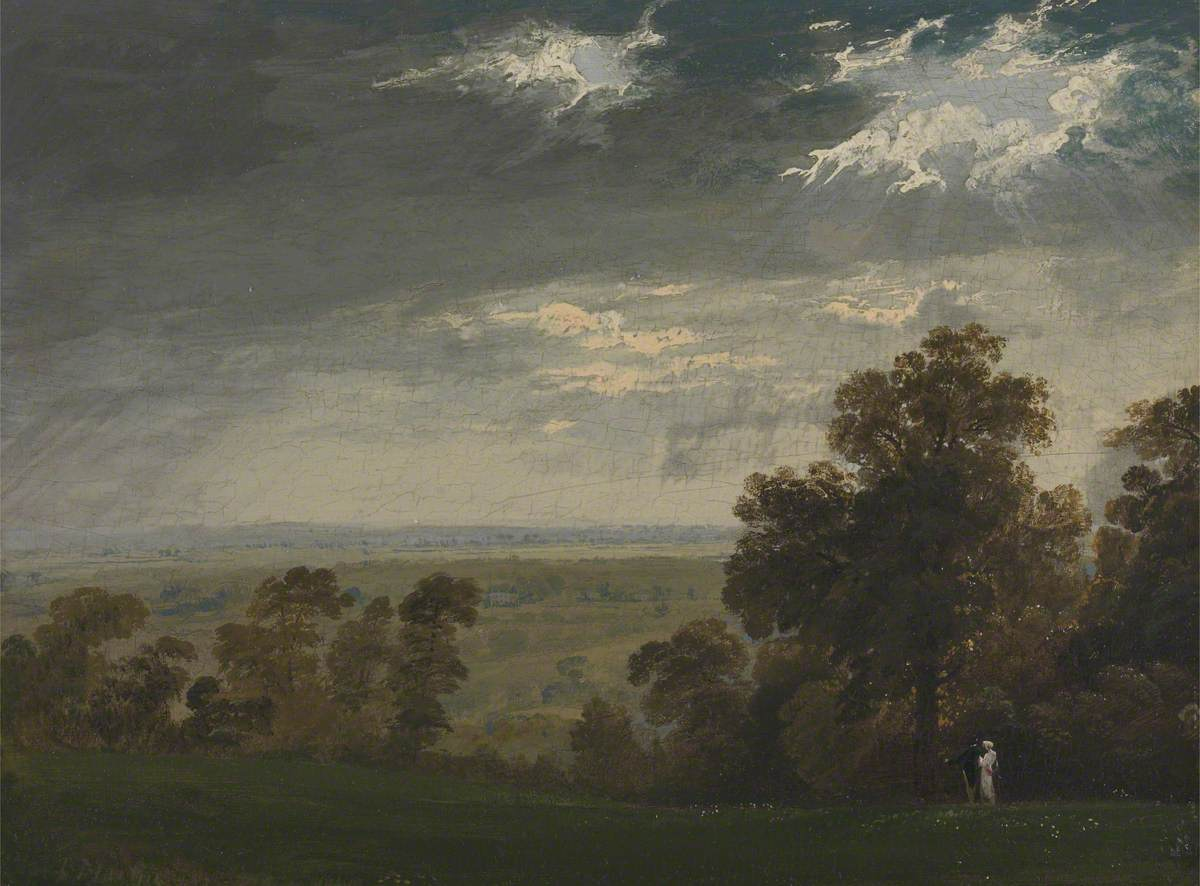 Landscape, Possibly the Isle of Wight or Richmond Hill