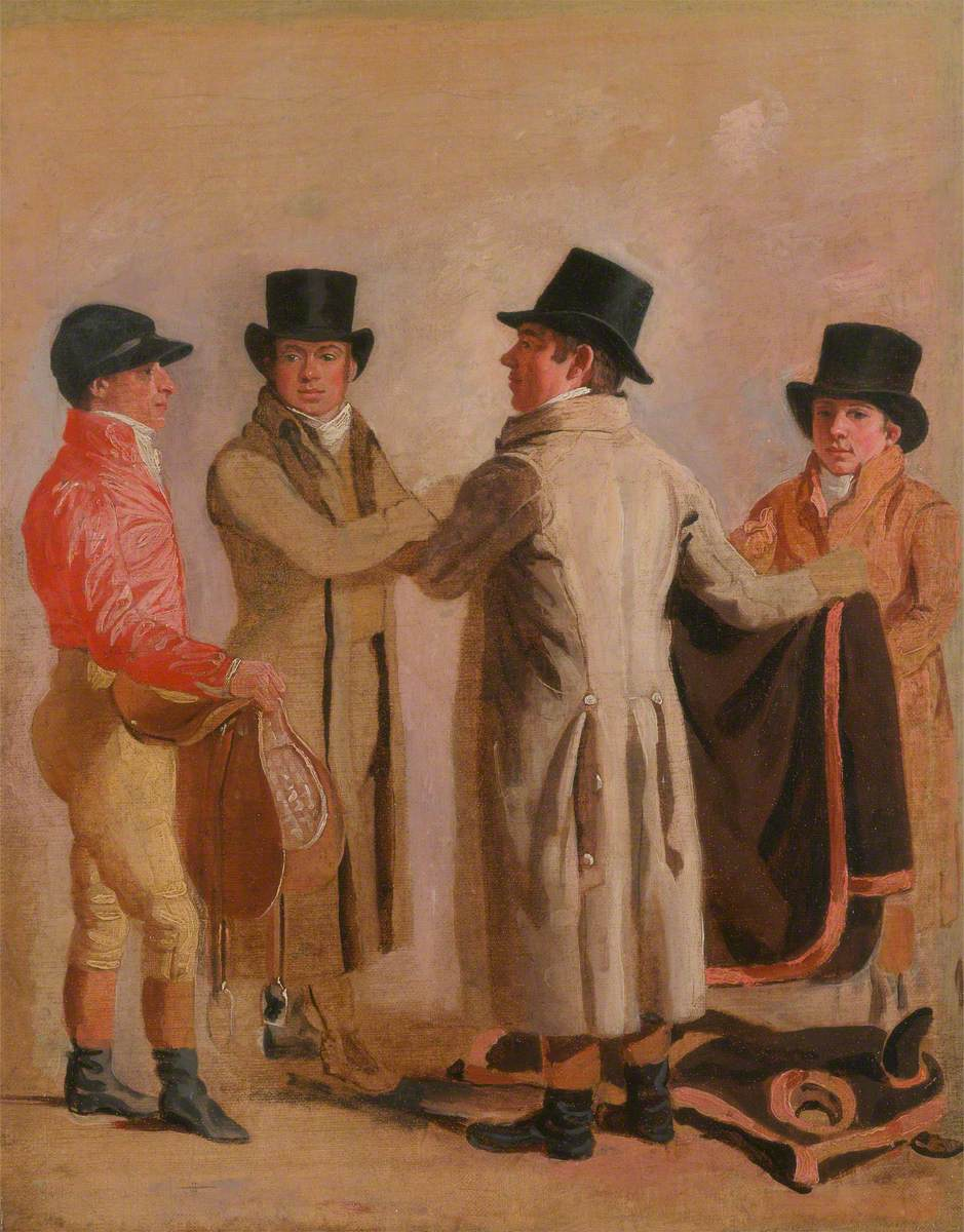 The Jockey Frank Buckle, the Owner-Breeder John Wastell, His Trainer Robert Robson, and a Stable-Lad