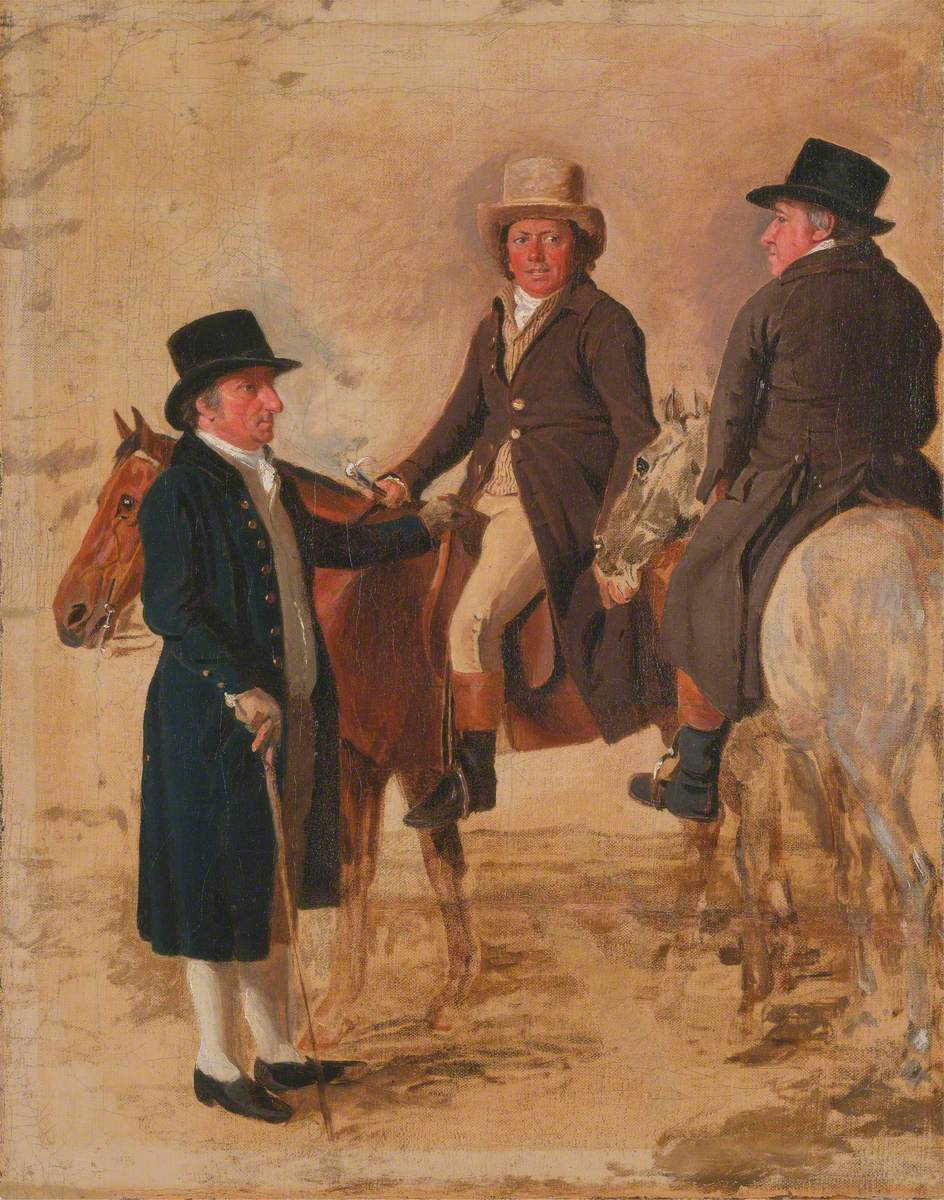 John Hilton, Judge of the Course at Newmarket; John Fuller, Clerk of the Course; and John Stevens, a Trainer