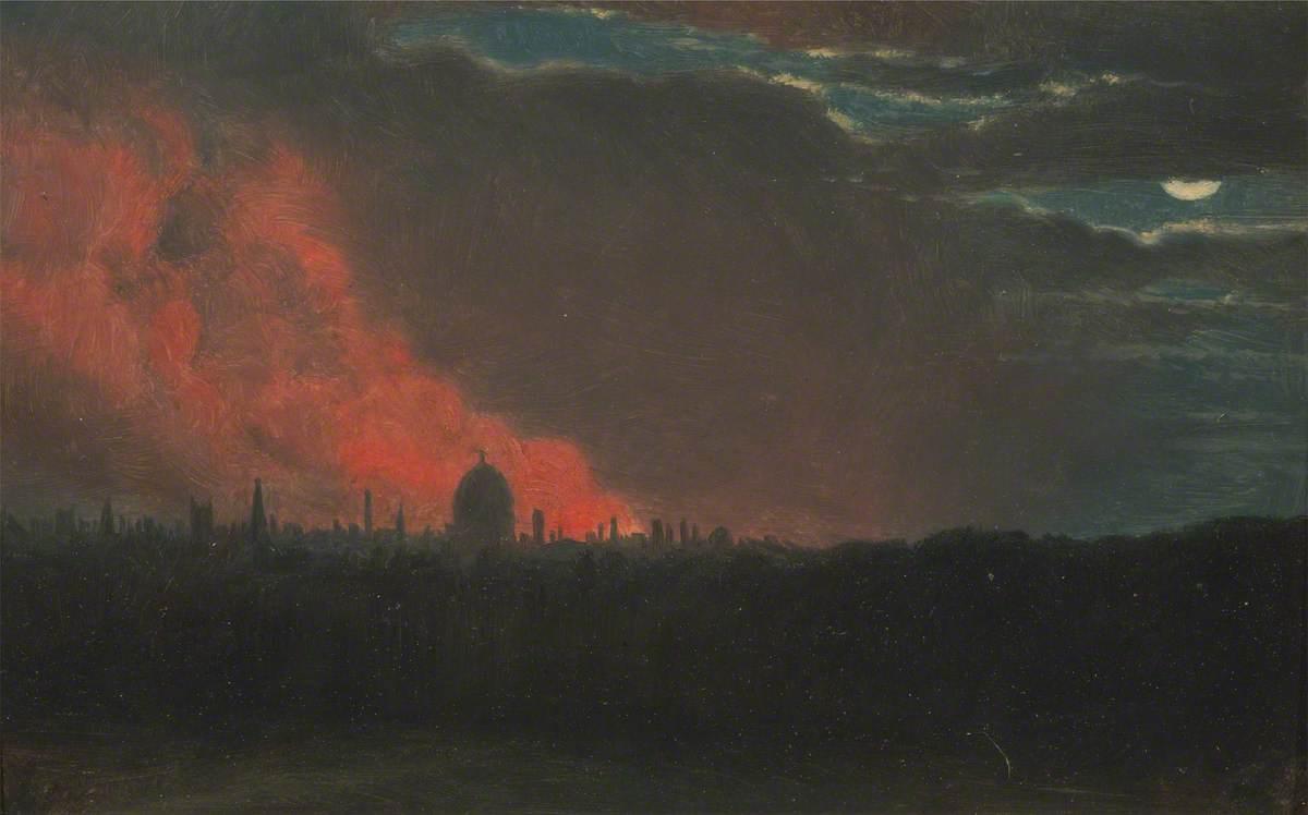 Fire in London, Seen from Hampstead
