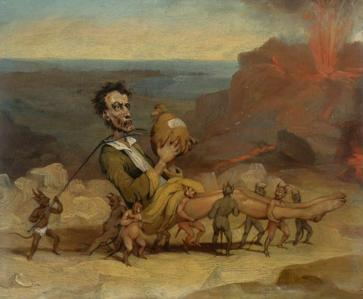 A caricature of Edward Bulwer Lytton 1803-1873 Browne B a3 02187 QUADRO