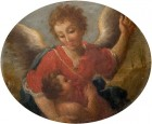 Angel Showing a Small Child the Way to Heaven