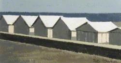 Line of Beach Huts