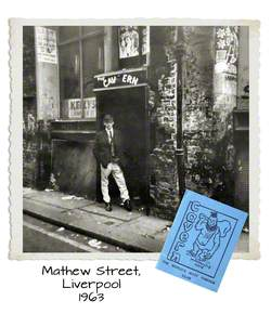 Paul Oulton in front of the Cavern, Mathew Street