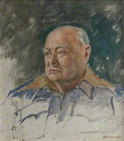 Sir Winston Churchill (1874–1965), KG (A Study for the Portrait of the Cinque Ports)