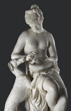 Nymph Removing a Thorn from a Greyhound's Foot (detail)
