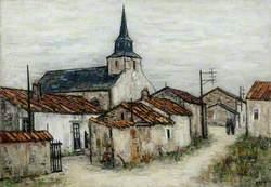 Village de Vendée avec une église