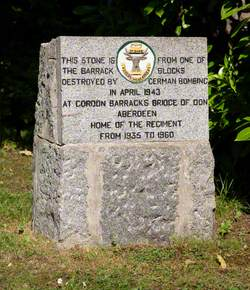 Granite Block from the Gordons Barracks