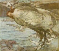 Orpheus: Single Bacchante with Seabirds