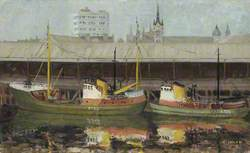 Trawlers Tied Up at Aberdeen Fishmarket