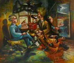 Napoleonic Silhouettist Cutting the Progress of the War