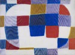 Two Circles (Red, Blue, Yellow, Violet and White)
