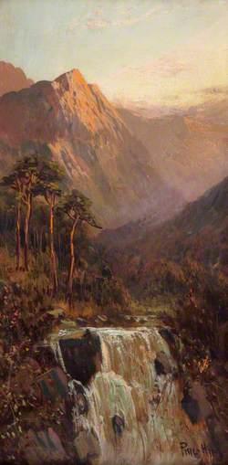 Waterfall and Mountain, Bodhyfryd