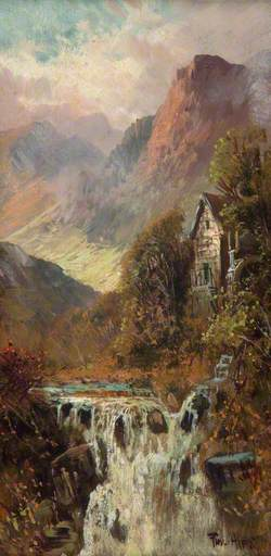 Mill, Waterfall and Mountain, Bodhyfryd