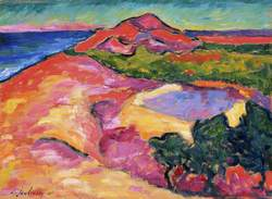 Coast Scene with Red Hill