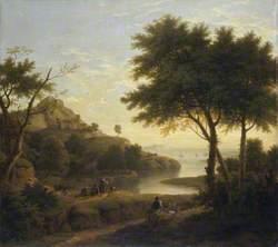 Landscape near a Coastal Inlet