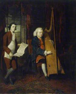 John Parry the Blind Harpist, with an Assistant