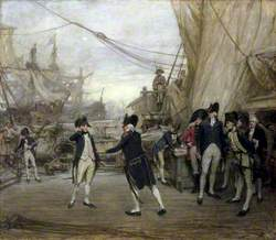 Nelson after the Battle of Cape St Vincent, 1797