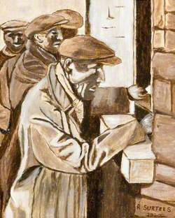 Miners Collecting Their Wages