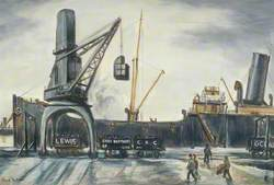 Steamer Loading Coal at Cardiff