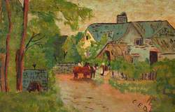 Rural Scene, Thatched Cottage