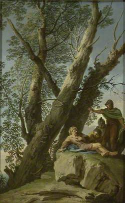 Landscape with a wounded Bandit and other Figures