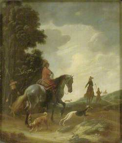 Huntsmen in a Landscape