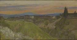 View of Monte Amiata, Tuscany
