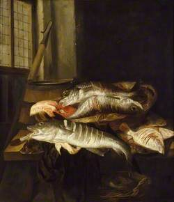 Interior with Still Life of Fish