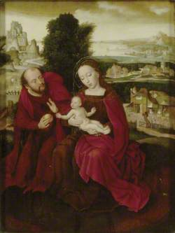 The Holy Family in a Landscape