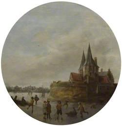 Skating Scene before the Noordenpoort, Hoorn