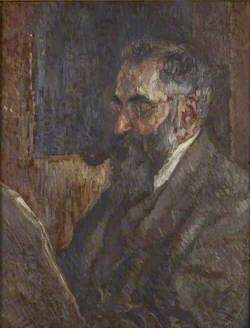 Lucien Pissarro reading