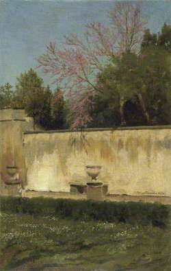 A Corner of the Gardens of the Villa Borghese